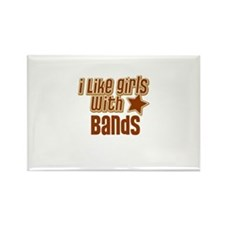 I Like Girls with Bands Rectangle Magnet