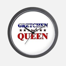 GRETCHEN for queen Wall Clock