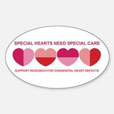 Special Hearts Oval Decal