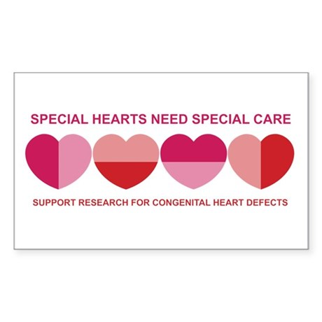 Special Hearts Rectangle Sticker