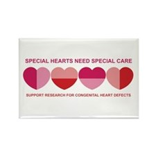 Special Hearts Rectangle Magnet