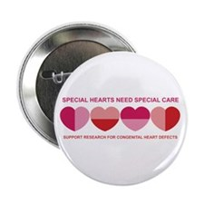"Special Hearts 2.25"" Button (10 pack)"
