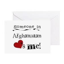 Afghanistan Loves Me Greeting Card