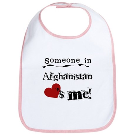Afghanistan Loves Me Bib