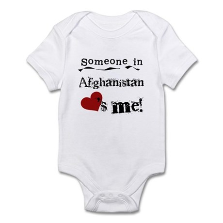 Afghanistan Loves Me Infant Bodysuit