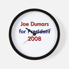 Joe Dumars for President Wall Clock