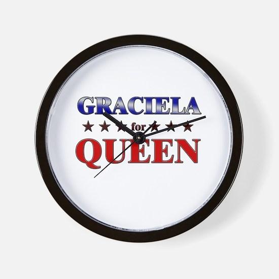GRACIELA for queen Wall Clock