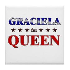 GRACIELA for queen Tile Coaster
