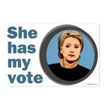 She Has My Vote Postcards (Package of 8)