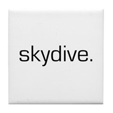 Cute Skydiving Tile Coaster