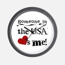USA Loves Me Wall Clock