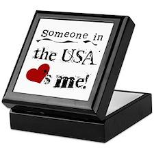 USA Loves Me Keepsake Box