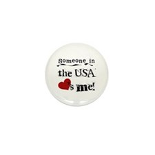 USA Loves Me Mini Button (10 pack)