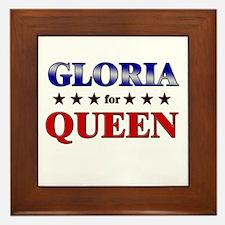GLORIA for queen Framed Tile
