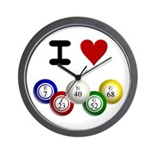 I LUV BINGO Wall Clock