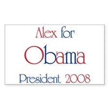 Alex for Obama 2008 Rectangle Decal