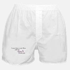 Never Knew A Hero NANA (Purple) Boxer Shorts