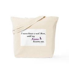 Never Knew A Hero NANA (Purple) Tote Bag