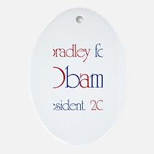 Bradley for Obama 2008 Oval Ornament