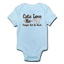 Cats Love Me Infant Bodysuit