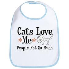 Cats Love Me Bib