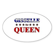 GISSELLE for queen Oval Decal