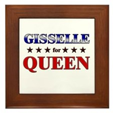 GISSELLE for queen Framed Tile