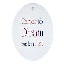 Carter for Obama 2008 Oval Ornament