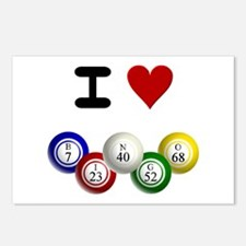 I LUV BINGO Postcards (Package of 8)