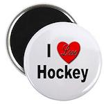 I Love Hockey Magnet
