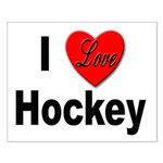 I Love Hockey Small Poster