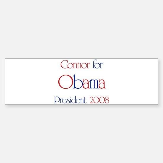 Connor for Obama 2008 Bumper Bumper Bumper Sticker