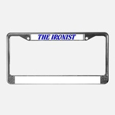"""The Ironist"" License Plate Frame"