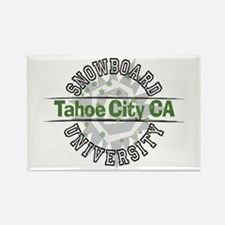 Snowboard Tahoe City CA Rectangle Magnet