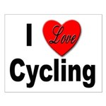 I Love Cycling Small Poster