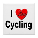 I Love Cycling Tile Coaster
