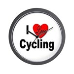 I Love Cycling Wall Clock