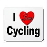 I Love Cycling Mousepad