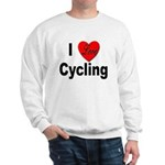 I Love Cycling (Front) Sweatshirt