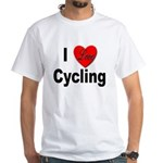 I Love Cycling (Front) White T-Shirt