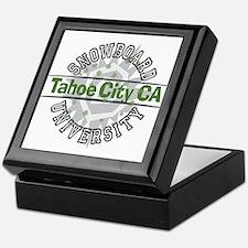 Snowboard Tahoe City CA Keepsake Box