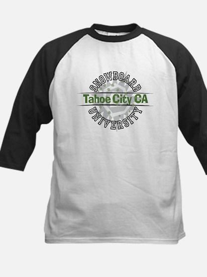 Snowboard Tahoe City CA Kids Baseball Jersey