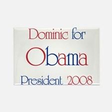 Dominic for Obama 2008 Rectangle Magnet