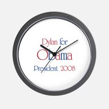 Dylan for Obama 2008 Wall Clock