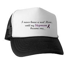 Never Knew A Hero STEPMOM (Purple) Trucker Hat