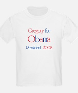 Gregory for Obama 2008 T-Shirt