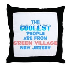 Coolest: Green Village, NJ Throw Pillow