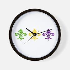 Fleur Mardi Swirl Wall Clock