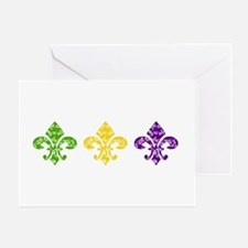 Fleur Mardi Swirl Greeting Card