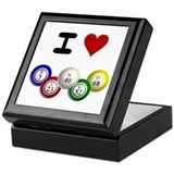 Bingo Square Keepsake Boxes